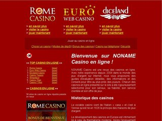 NONAME Casino en ligne