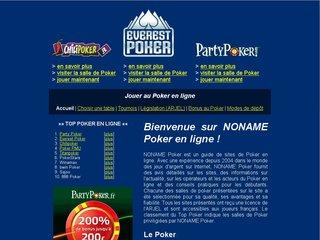 NONAME Poker en ligne